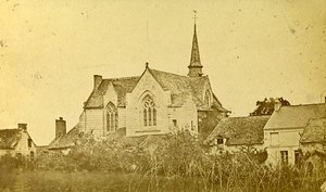 Chapel Notre Dame Behuard 49170 Angers France Old CDV Photo 1870