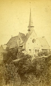 Chapel Notre Dame Behuard 49170 Angers France Old CDV Vetault Photo 1870