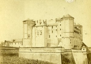 Castle facade 49400 Saumur France Old CDV Le Roch Photo 1870