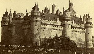 60350 Pierrefonds Castle France Old CDV Mieusement Photo 1870