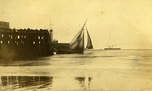 Warf 62200 Boulogne sur Mer France Old CDV De Mauny Photo 1870