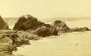Boucalot Rocks 64200 Biarritz France Old CDV Frois Photo 1870