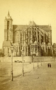 Cathedral 72000 Le Mans France Old CDV Guittet Photo 1870
