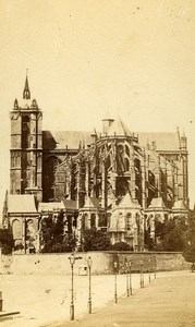 Cathedral 72000 Le Mans France Old CDV Cabaret Photo 1870