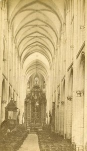 Abbey Interior 76400 Fecamp France Old CDV Auber Photo 1870