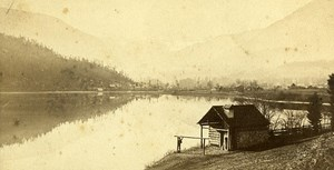 Panorama Lake 67120 Dachstein France Old CDV Burger Photo 1870