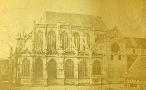 Cathedral 60000 Beauvais France Old CDV Herbert Photo 1870