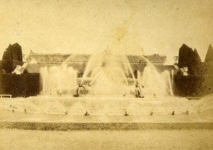 Latona Fountain 78000 Versailles France Old CDV Lamy Photo 1870