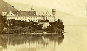 Lake Border Castle 73100 Aix les Bains France Old CDV Demay Photo 1870