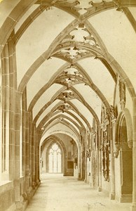 Cathedral Cloister Basel Switzerland Old Photo CDV Varady 1870