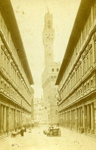 Italy Firenze Uffizi Gallery Old Photo CDV Brogi 1870