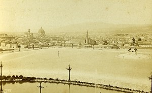 Italy Firenze Panorama Old Photo CDV Brogi 1870