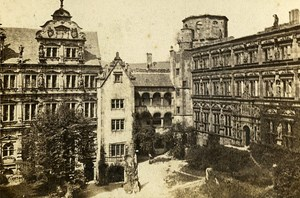 Germany Heidelberg Castle Court Old Photo CDV Richard 1870