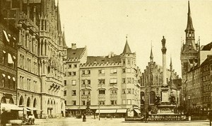 Germany Munchen Marienplatz Old Photo CDV Kostler 1870