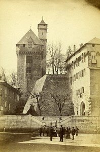 Castle 73000 Chambery Savoie France Old CDV Perrot Photo 1870