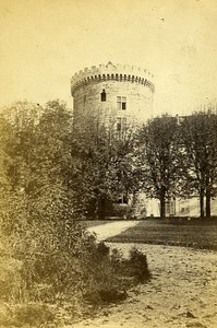 Castle Tower 73000 Chambery Savoie France Old CDV Perrot Photo 1870