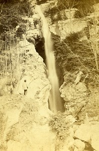 Jacob Waterfall 73000 Chambery Savoie France Old CDV Perrot Photo 1870