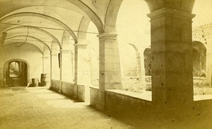 Abbey Cloister 74290 Talloires Haute Savoie France Old CDV Demay Photo 1870
