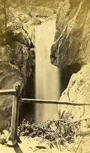 Berard Falls 74660 Vallorcine Savoie France Old CDV Garcin Photo 1870