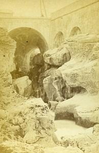 Gorges du Fier Bridge 74330 Lovagny Savoie France Old CDV Brun Photo 1870