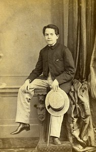 Man Fashion London United Kingdom Old CDV Caldesi Photo 1870