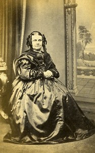 Woman Fashion Canterbury United Kingdom Old CDV Drayson Photo 1870