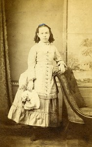 Young Lady Fashion South Sea United Kingdom Old CDV Whiston Photo 1870