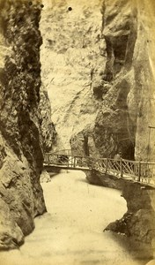 Trient Inside the Gorges Alps Old CDV Charnaux Photo 1870