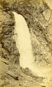 Pissevache Falls Alps Switzerland Old CDV Charnaux Photo 1870