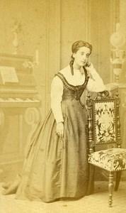 Woman Portrait Fashion Toulouse France Old CDV Benazech Photo 1870