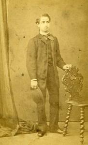 Amedee Delorme Portrait Fashion Toulouse France Old CDV Photo Benazech 1870