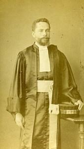 Lawyer Fashion Dress Rennes France Old CDV Collet Photo 1870