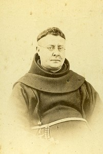 Catholic Religious Portrait Monk Lokeren Belgium Old Photo CDV Vlaminck 1870