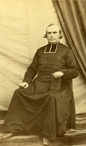 Catholic Religious Portrait Paris France Old Photo CDV 1870
