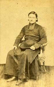 Catholic Religious Portrait Angouleme France Old Photo CDV Dejonge 1870