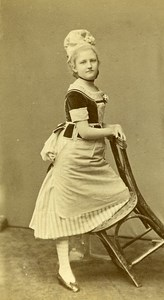 Actress Paris France old CDV Berthaud Photo 1870