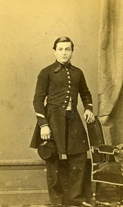 Young Man Second Empire Clothes Angers France old CDV Berthault Photo 1870