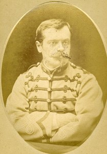 Assistant Treasurer Laval 16e Horses Regiment Army France Old CDV Photo 1878