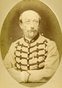 Captain Lindenfelder 16e Horses Regiment Army France Old CDV Photo 1878