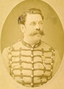 Captain Boucharelle 16e Horses Regiment Army France Old CDV Photo 1878