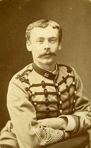 Second Captain Petit 16e Horses Regiment Army France Old CDV Photo 1878