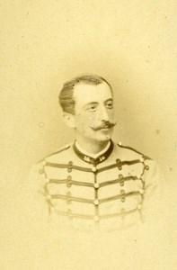 First Lieutenant M de Laurein 16e Horses Regiment Army France Old CDV Photo 1878