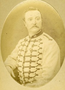 First Lieutenant A Lonchamps 16e Horses Regiment Army France Old CDV Photo 1878