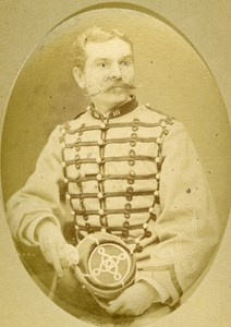 First Lieutenant A Jung 16e Horses Regiment Army France Old CDV Photo 1878