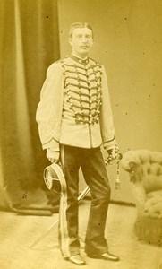 Second Lieutenant De Beaufort 16e Horses Regiment Army France Old CDV Photo 1878