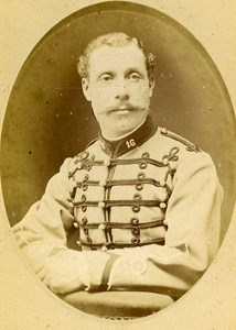 Second Lieutenant Deffance 16e Horses Regiment Army France Old CDV Photo 1878