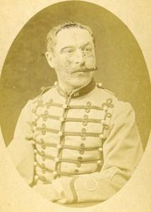 Second Lieutenant Bidoux 16e Horses Regiment Army France Old CDV Photo 1878