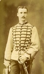 Second Lieutenant Dupont 16e Horses Regiment Army France Old CDV Photo 1878