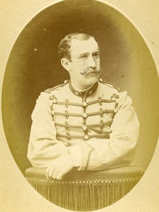 Second Lieutenant Chanu 16e Horses Regiment Army France Old CDV Photo 1878