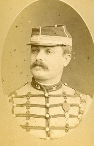 Adjutant Sub Officer Ponneur 16e Horses Regiment Army France Old CDV Photo 1878